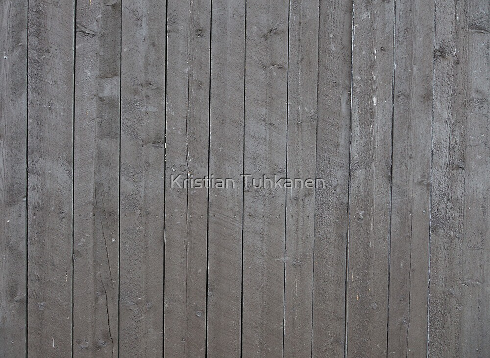 Old gray plank wall by Kristian Tuhkanen