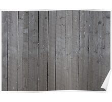 Old gray plank wall Poster