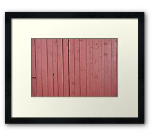 Old red blank wall Framed Print