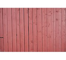 Old red blank wall Photographic Print