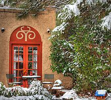 Southwest Cottage in the Snow by K D Graves Photography