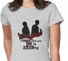 Working With You Womens Fitted T-Shirt