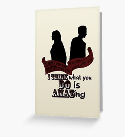 Working With You Greeting Card