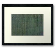 Green plank wall Framed Print