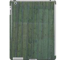 Green plank wall iPad Case/Skin