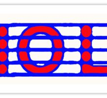 Viola Red White & Blue Sticker