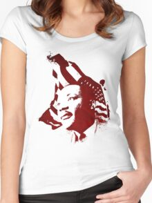 Martin Luther King, Jr. (flag) Women's Fitted Scoop T-Shirt