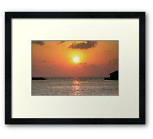 Intense sunset Framed Print