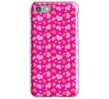 Pink Hearts Pattern iPhone Case/Skin