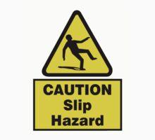 Caution Slip Hazard Kids Tee