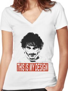 Will Graham's Design Women's Fitted V-Neck T-Shirt