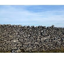 Dry Stone Wall - Middleton Moor Photographic Print