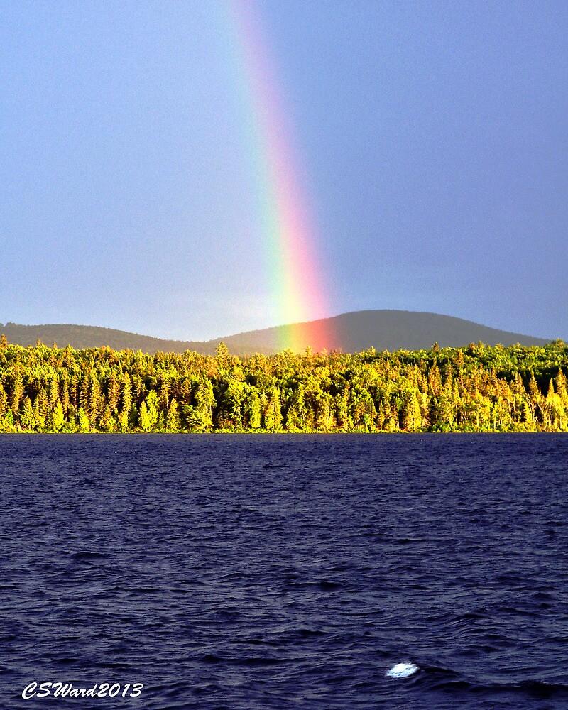 Rainbow Over Eagle Lake by Caleb Ward