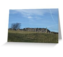 Dry Stone Wall - Middleton Moor #3 Greeting Card