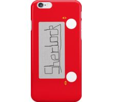 Sherlock etch  iPhone Case/Skin