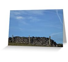 Dry Stone Wall - Middleton Moor #4 Greeting Card