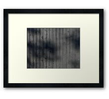 Black plank wall Framed Print