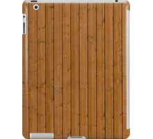 Reddish plank wall iPad Case/Skin