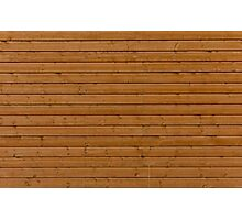 Reddish plank wall Photographic Print