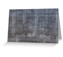 Gray plaster wall Greeting Card