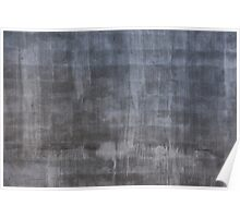 Gray plaster wall Poster