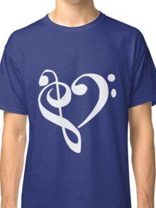 Music Clef Heart Girls funny nerd geek geeky Classic T-Shirt