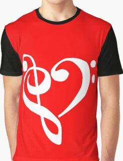Music Clef Heart Girls funny nerd geek geeky Graphic T-Shirt