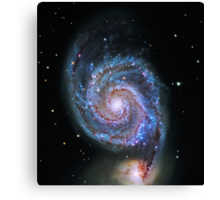 Space M51 Whirlpool Galaxy Canvas Print