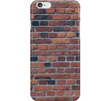 Old red brick wall iPhone Case/Skin