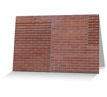 Red brick wall Greeting Card