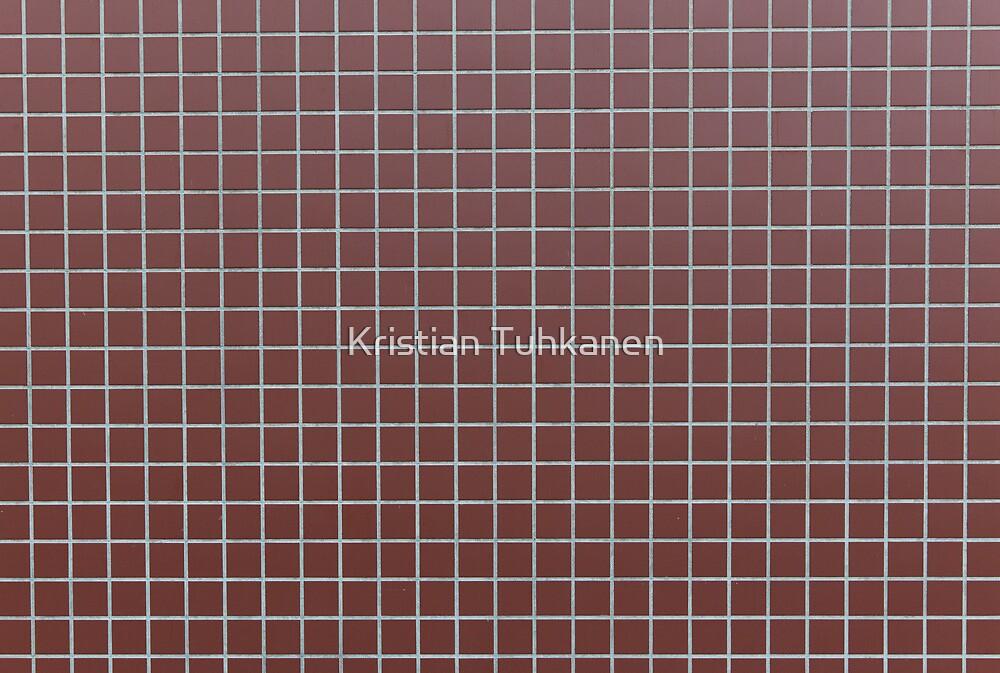 Square reddish tiles by Kristian Tuhkanen