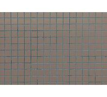 Square beige tiles Photographic Print