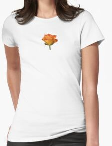 Single Orange Rose Womens Fitted T-Shirt