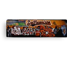 San Francisco Giants Street Mural Canvas Print