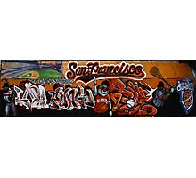 San Francisco Giants Street Mural Photographic Print