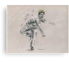 Lasith Malinga - original cricket drawing Canvas Print