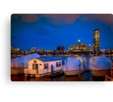 House in the city Canvas Print
