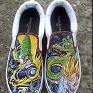 Custom SSJ2 Gohan / Perfect Cell Shoes by colorblind