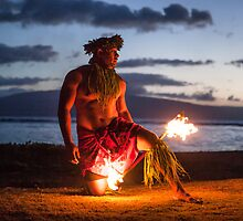 Twilight Fire Dancer in the Hawaiian Islands  by DeborahKolb