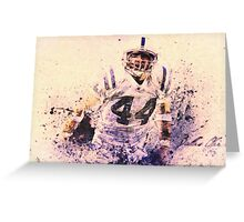 sports   Dallas Clark  NFL  Indianapolis Colts Greeting Card