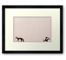 Fox and badger Framed Print