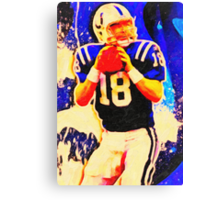 sports  peyton manning art Canvas Print