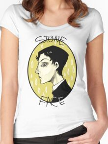 stone face Women's Fitted Scoop T-Shirt