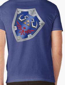 A Legend of Zelda (Right-shoulder Back) Shield Design  Mens V-Neck T-Shirt