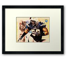 sports Shawne Merriman NFL  art Framed Print