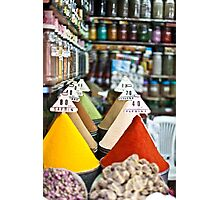 Colourful Morrocan Spices Photographic Print