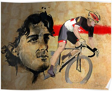 Cycling Illustration Fabian Cancellara print by SFDesignstudio