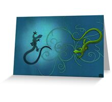 gecko duality Greeting Card