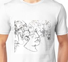 Tuileries Blind Contour Drawing Unisex T-Shirt