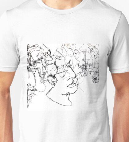 Tuileries Blind Contour Drawing Unisex T-Shirt